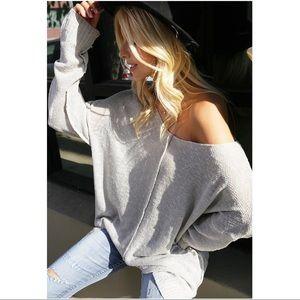 ✨RESTOCKED✨ Light Gray Soft Slouchy Sweater Tunic